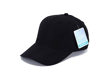 IRSINA Nepromokavá sportovní čepice se šesti panely a vyztuženým čelem, černá - reklamní čepice