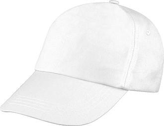 5 panelová kšiltovka,bílá
