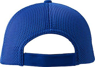 Šestipanelová čepice, zadní panely ze síťoviny, modrá