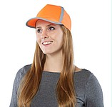 Pětipanelová kšiltovka, reflexní pruhy, oranžová - reklamní čepice