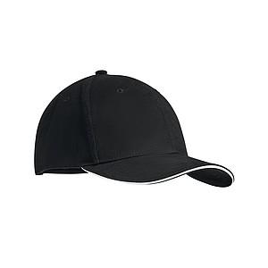6 panelová kšiltovka s nastavovacím zapínáním, bílá - reklamní čepice