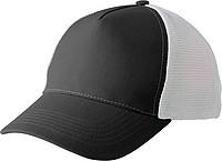 Pětipanelová kšiltovka, zapínání na suchý zip, bílo černá - reklamní čepice