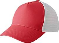 Pětipanelová kšiltovka, zapínání na suchý zip, bílo červená