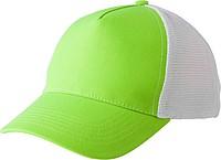 Pětipanelová kšiltovka, zapínání na suchý zip, bílo zelená