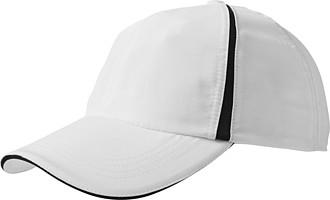 Polyesterová šestipanelová čepice zn. Elevate, bílá