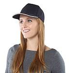 HANSEN Jednobarevná pětipanelová kšiltovka, zapínání na přezku, černá - reklamní čepice