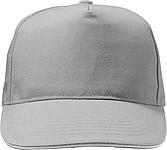 HANSEN Jednobarevná pětipanelová kšiltovka, zapínání na přezku, šedá - reklamní čepice