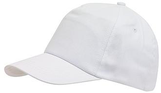 Dětská pětipanelová kšiltovka, bílá