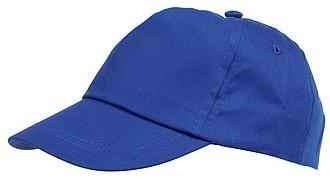 Dětská pětipanelová kšiltovka, modrá