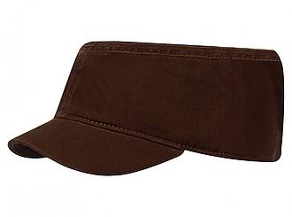 Dámská čepice ve vojenském stylu, hnědá