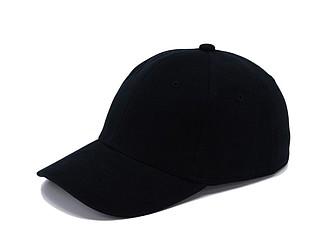 Bavlněná čepice bez zapínání, černá - reklamní čepice