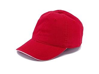 Dětská šestipanelová čepice, červená - reklamní čepice