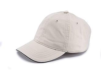 Dětská šestipanelová čepice, béžová
