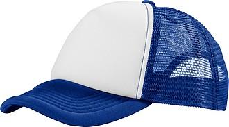 Pětipanelová čepice s vyplněným předním dílem, modrá