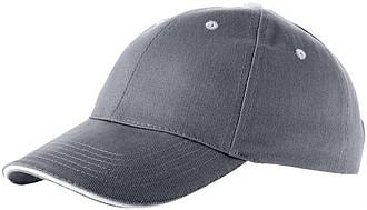 Šestipanelová čepice ELEVATE BRENT šedá - reklamní čepice