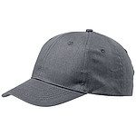 Čepice, 6 panelů, kovově šedá - reklamní čepice