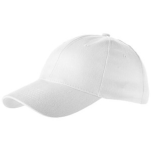Čepice, 6 panelů, bílá - reklamní čepice