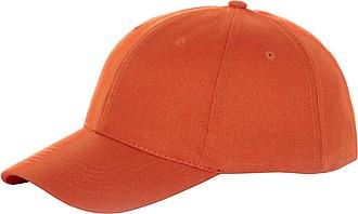 Čepice, 6 panelů, oranžová