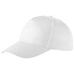 Čepice s kovovou přezkou, 5 panelů, bílá - reklamní čepice