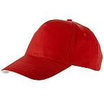 Čepice s kovovou přezkou, 5 panelů, červená