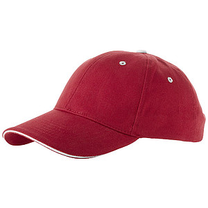 Čepice, 6 panelů, červená - reklamní čepice