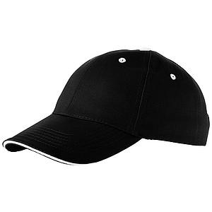 Čepice, 6 panelů, černá - reklamní čepice