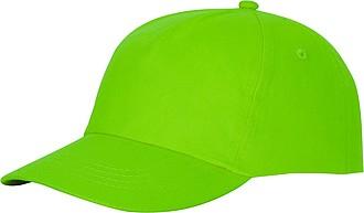 Pětipanelová bavlněná čepice Feniks, jasně zelená