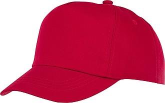 Dětská pětipanelová bavlněná čepice Feniks, červená - reklamní čepice