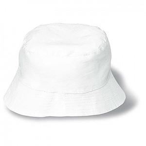Plážový klobouk bavlněný bílý