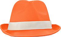 Klobouk s bílým páskem k potisku, oranžový
