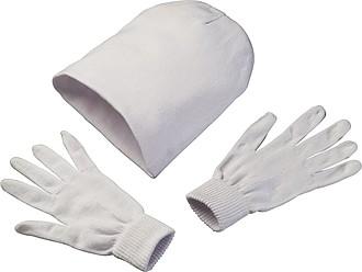 Sada čepice a rukavic z polyesteru
