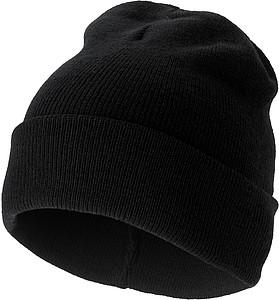 SKI Pletená čepice, černá