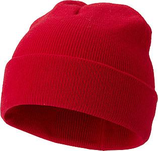 Pletená čepice, červená