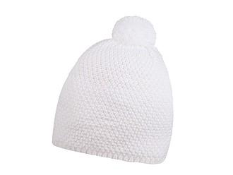 FELIPE Zimní čepice s bambulí, bílá - reklamní čepice