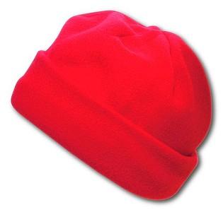 BLANC fleecová čepice, červená
