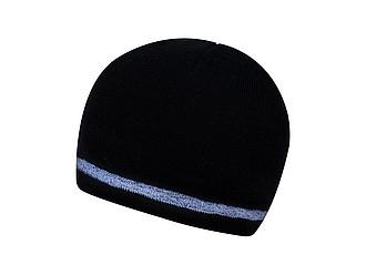 DONY Dvouvrstvá čepice s reflexním okrajem, černá