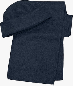 NORD Souprava šála a čepice, fleece, modrá - reklamní čepice