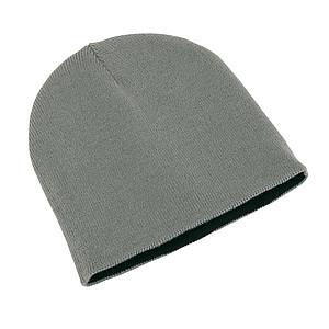 Čepice, 100% acryl, stříbrnočerná - reklamní čepice