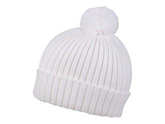 SNOVER Pletená zimní čepice s bambulí, bílá - reklamní čepice