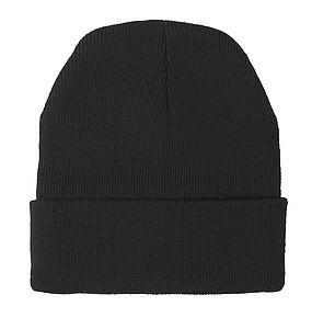 Akrylová čepice se světlem, černá - reklamní čepice