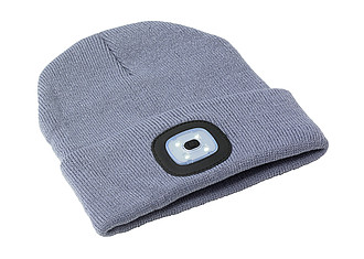 Akrylová čepice se světlem, šedá. - reklamní čepice