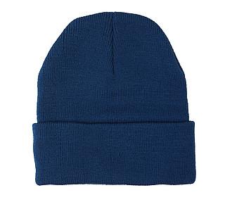 Akrylová čepice se světlem, tmavě modrá, - reklamní čepice