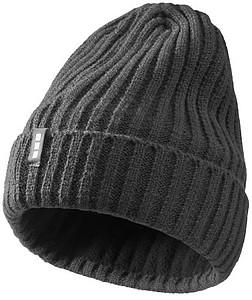 TAKATO Pletená čepice Elevate s fleecovou podšívkou, tmavě šedá