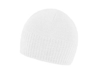 Stylová zimní lehká čepice, bílá