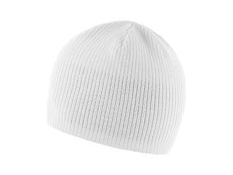 Pohodlná zimní čepice s vnitřní čelenkou, bílá