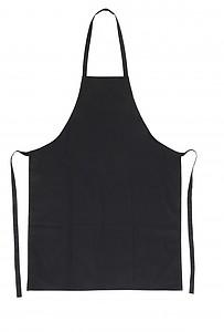 Bavlněná kuchařská zástěra, černá