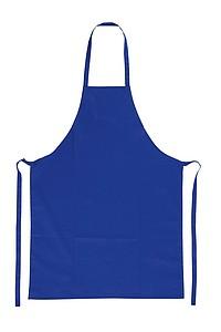 Bavlněná kuchařská zástěra, modrá