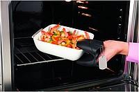 Silikonová kuchyňská rukavice, černá