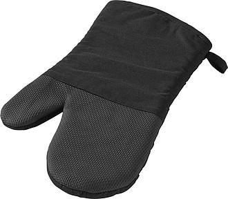 Bavlněná rukavice s pogumovanou částí, černá