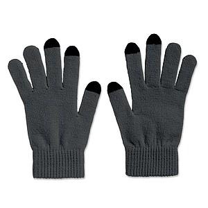 TACTO Hmatové rukavice pro chytrý telefon, šedá